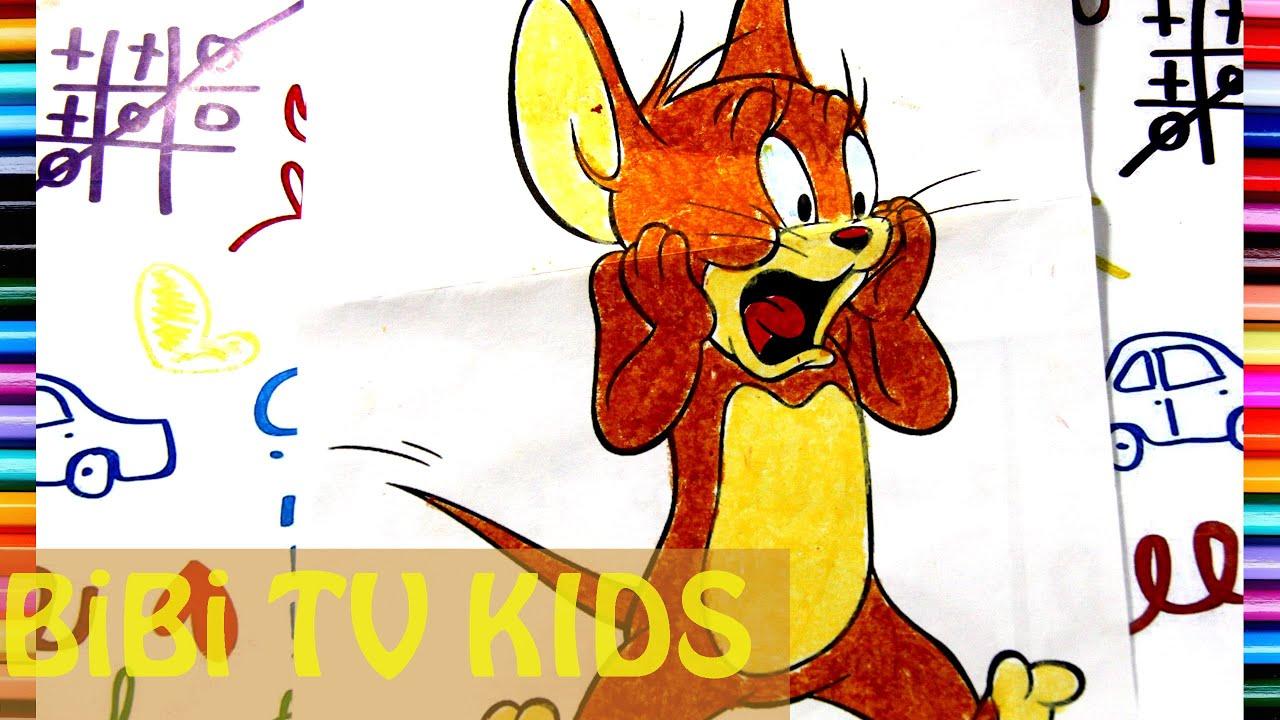 Game Tô màu chuột jerry | Tôm và jerry | Tô màu chủ đề động vật | bé tô màu |  112