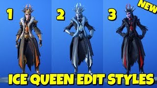 New ICE QUEEN SKIN EDIT STYLES In-Game Fortnite