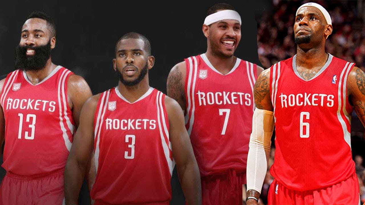buy popular 4bb22 441ba LeBron James & Carmelo Anthony SECRETLY Planning to Join the Rockets!!?