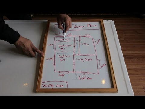 How to Create a Household Fire Escape Plan : Home Safety