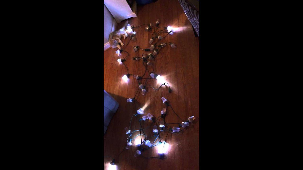 LED C9 Strobe Light Test