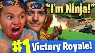 MY 9 YEAR OLD BROTHER TURNS INTO NINJA!!! YOU WONT BELIEVE WHAT HAPPENED... FORTNITE BATTLE ROYALE!