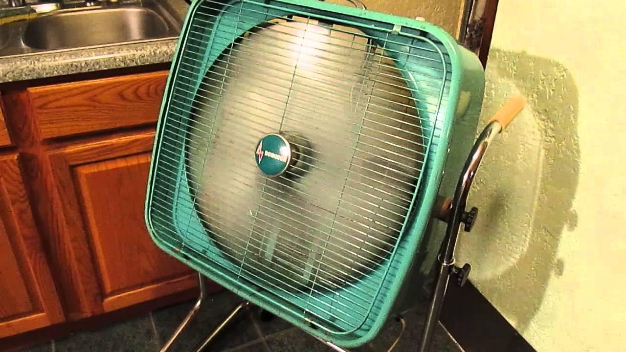 1960s Box Fan : S dominion inch box fan youtube