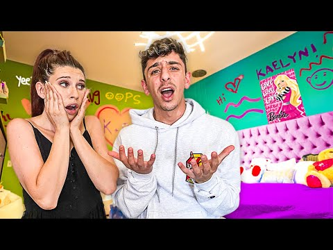 She gave my room a makeover... **uh oh**