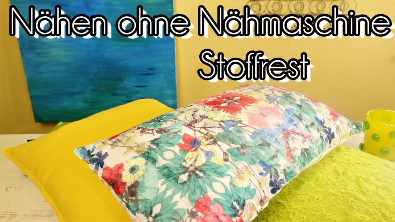 diy n hen ohne n hmaschine mit stoffrest n hen auch f r. Black Bedroom Furniture Sets. Home Design Ideas