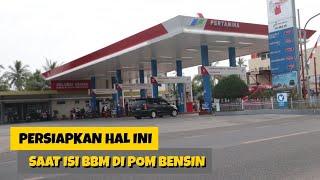 Tutorial isi bbm mobil di pom bensin / SPBU untuk pemula