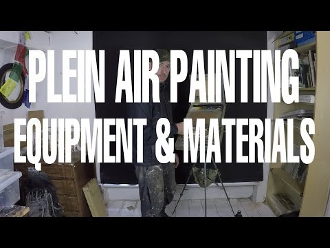Plein Air Equipment And Materials