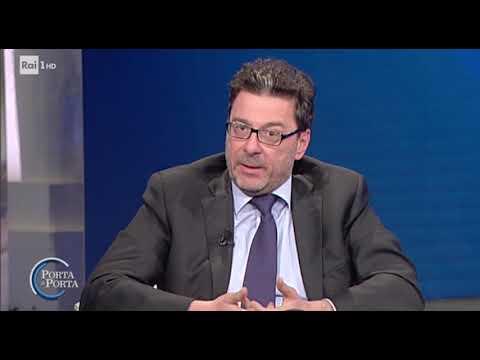 Giancarlo Giorgetti a Porta a Porta il 22 marzo