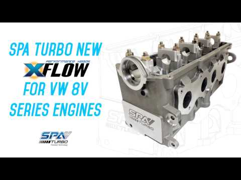NEW SPA Turbo X-Flow! Cylinder head for VW ABA blocks engines