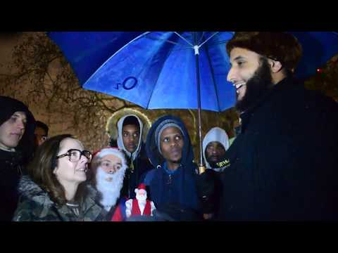 P1 William proposal & gender fluidity! Muhammad Hijab Vs lady visitor Speakers Corner Hyde Park