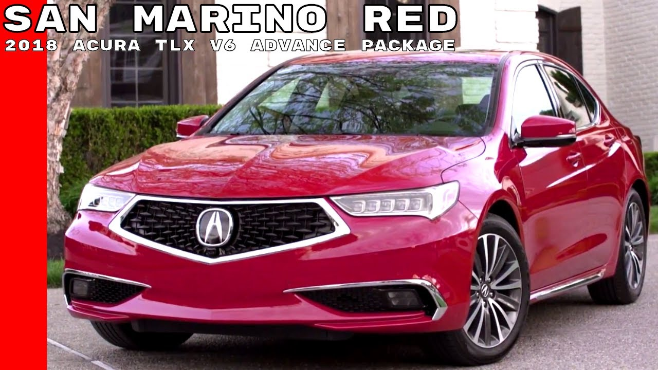 2018 Acura TLX V6 with Advance Package - San Marino Red ...