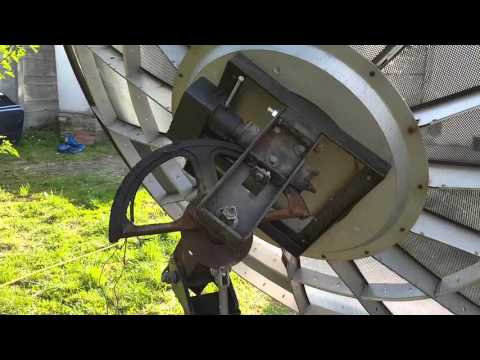 Arab 240cm parabola antenna mozgatasa