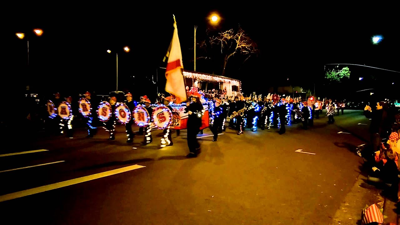 Parsons Band 2015 Redding Lighted Christmas Parade - YouTube