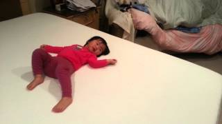 Baby Vivi Likes The New Tempurpedic King Size Bed