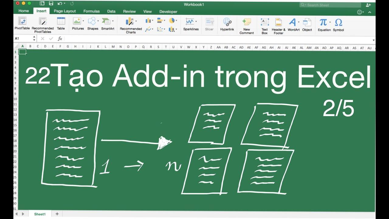 #22 Cách tạo một add-ins trong Excel 2/5