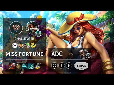 Miss Fortune ADC Vs Sett - KR Challenger Patch 10.10