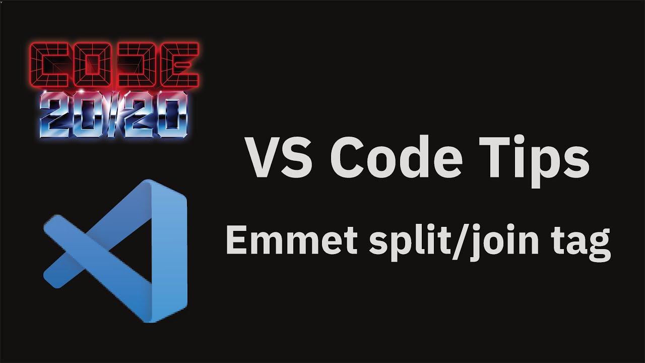 Emmet split/join tag