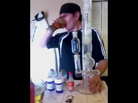 BEST Strikeout on youtube! 2 bong rips! Hash & weed! 2 beer chugs & 99 black cherries