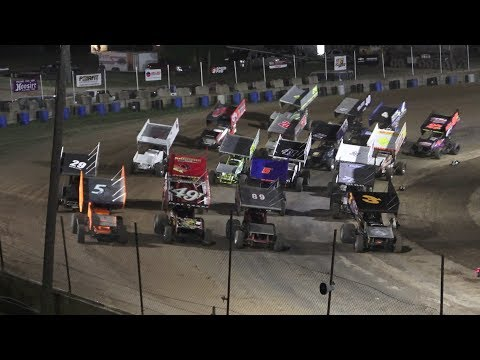 A Feature 1 (25 Laps): 4-Josh Turner, 5B-Chad Blonde, 49T-Gregg Dalman, 71H-Ryan Ruhl, 27B-Boston Mead, 41-Thomas Schinderle, 20A-Andy Chehowski, ... - dirt track racing video image