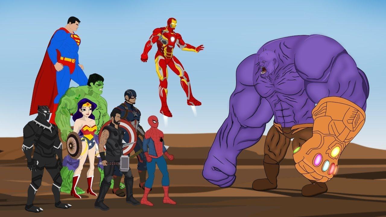Download HULK - SPIDERMAN - IRONMAN VS THANOS : Fight Scene - Avengers Infinity War [HD] | SUPER HEROES MOVIE