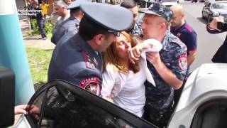 Opposition Candidate Hauled Away By Armenian Police