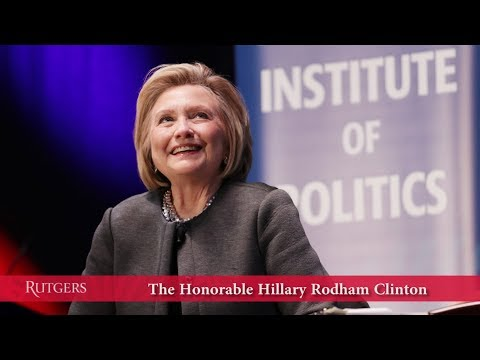Conversation with Hillary Rodham Clinton at Rutgers University
