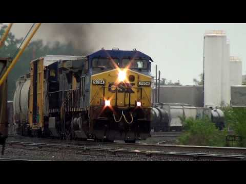 Thumbnail: CSX Freight Train Hits The Horn at RR Crossing