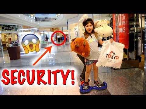 SQUISHY HUNTING & RIDING ON HOVERBOARDS AT THE MALL! CHASED BY SECURITY! 😱 | Sedona Fun Kids TV