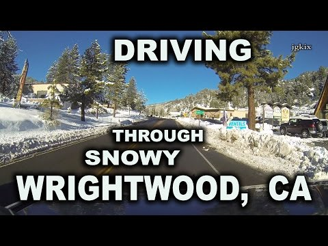 Driving Through Snowy Wrightwood, CA