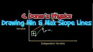 IB Physics: Using Excel to Draw Maximum and Minimum slope lines