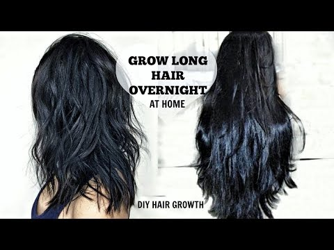 HOW TO GROW LONGER THICKER HAIR FAST | DIY OVERNIGHT HAIR GROWTH SERUM (NATURALLY STOP HAIR LOSS)