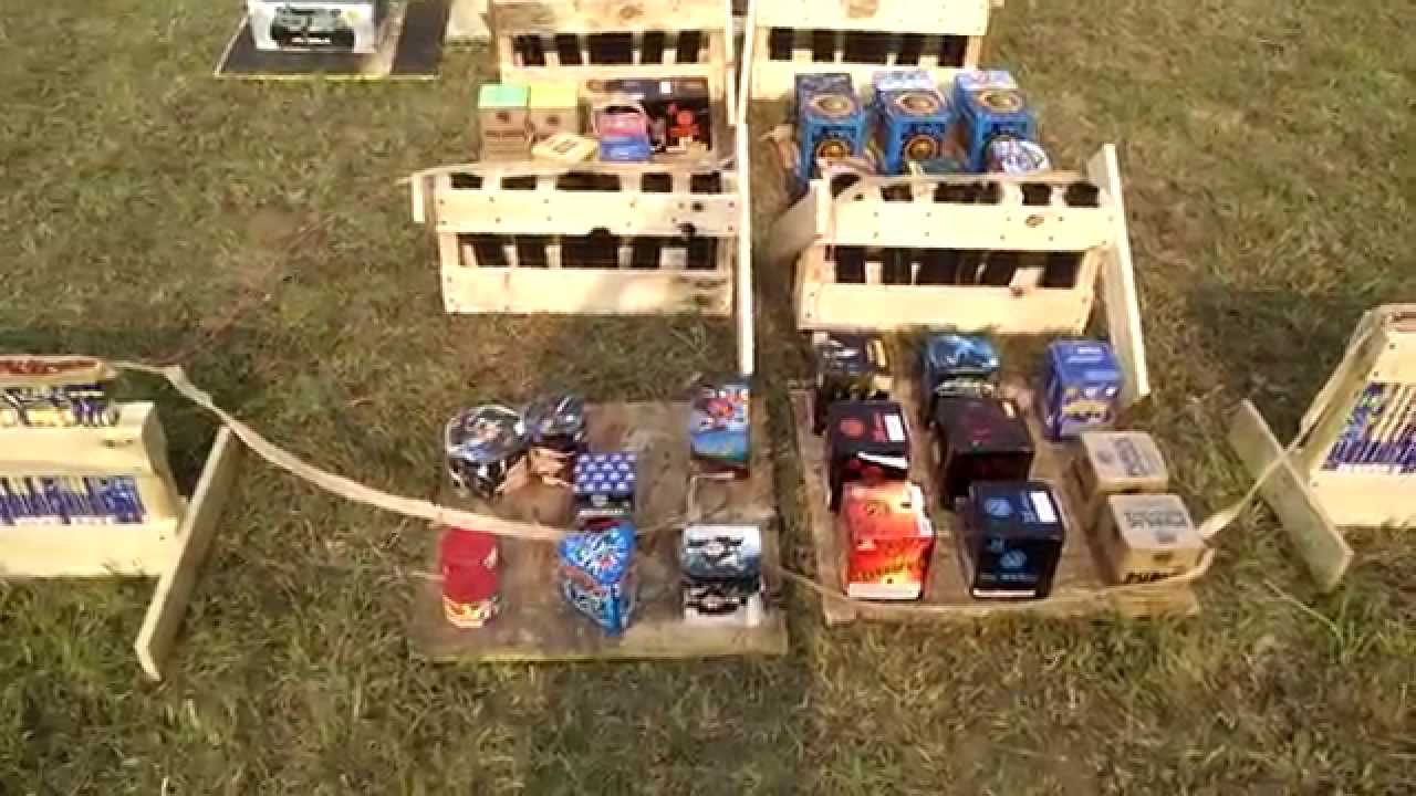 2015 Extreme Backyard Firework Display Setup