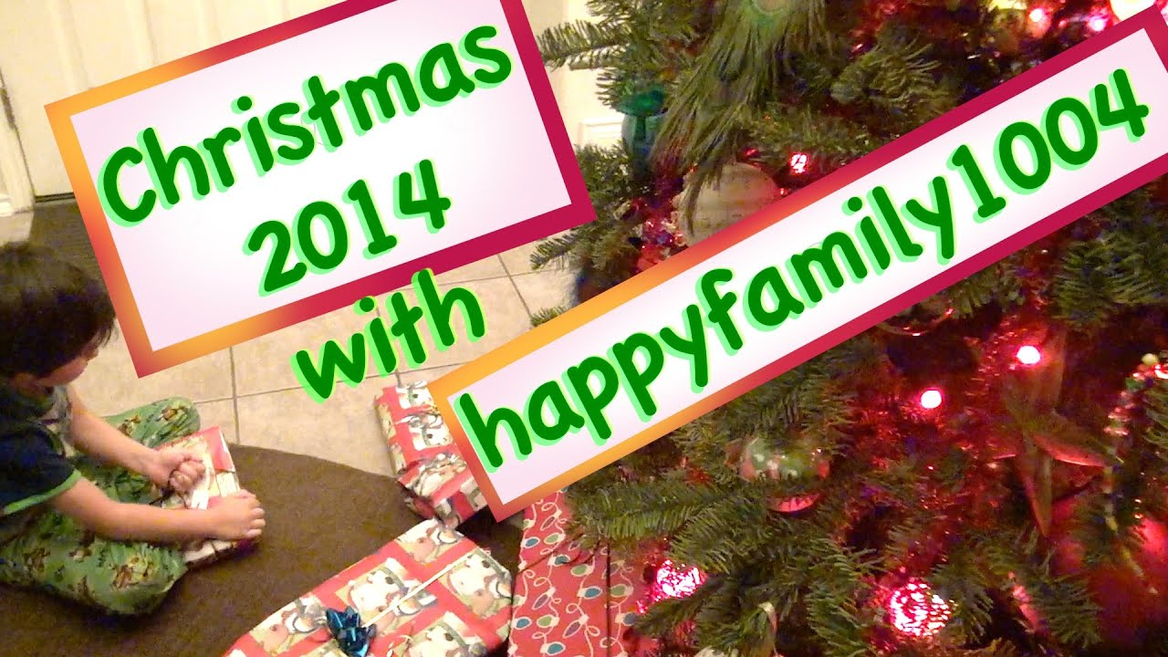 Christmas Opening 2014 with happyfamily1004 - YouTube