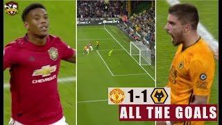 Neves WONDERGOAL! Wolves 1-1 Manchester United Martial, Neves | All The Goals