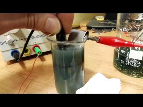 Gold recovery by electrolysis. Prussian gold test. Part 1.