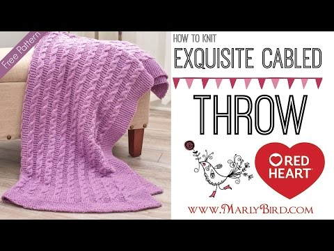 How to Knit Easy Exquisite Cabled Throw