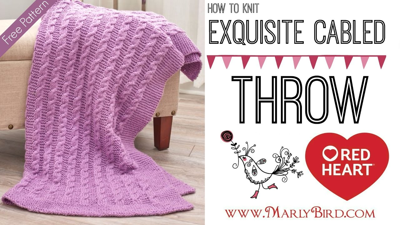 How To Knit Easy Exquisite Cabled Throw Youtube