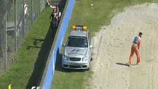 Monza 2007 Kimi Räikkönen having a huge Crash in FP3 and refuses to go to Medical Center 💥