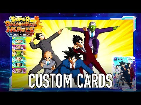 Super Dragon Ball Heroes World Mission - SWITCH/PC - Custom Cards creation