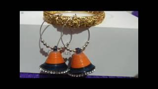 Diy New Design Quilling Earrings