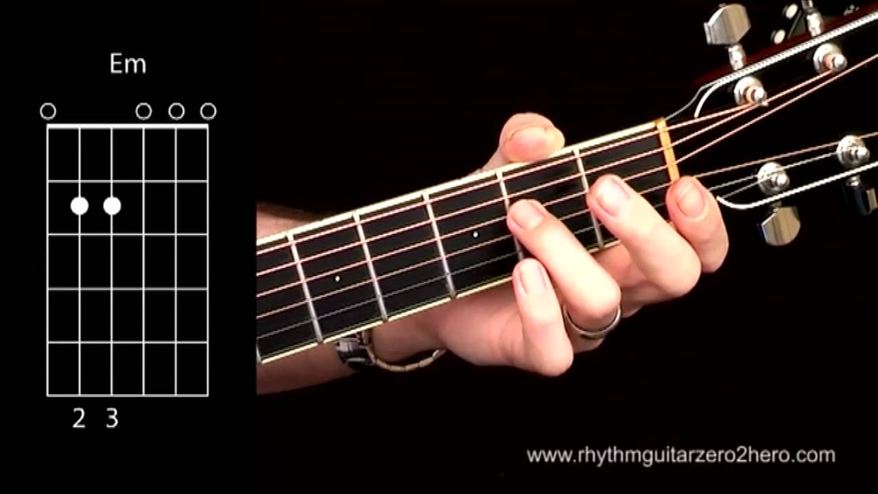 Acoustic Guitar Chords Learn To Play E Minor Youtube