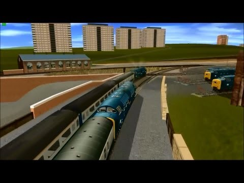 Trainz Deltic racing from Newcastle  LOCO TV UK.