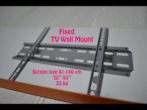 How To FIXED WALL MOUNT For (LCD & LED) TV / SUPER Easy Way