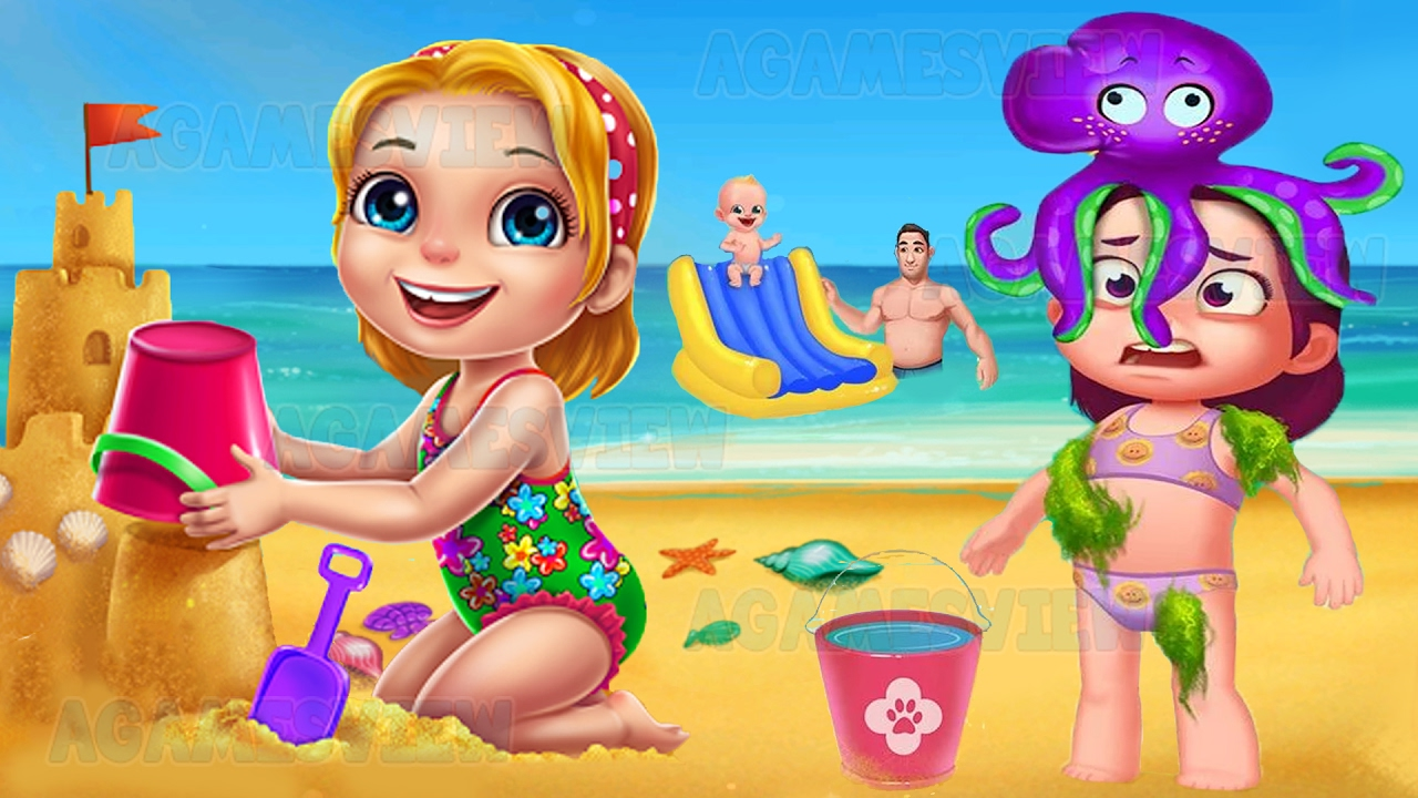 Summer Vacation Fun At The Beach Educational Game For Little Kids Youtube