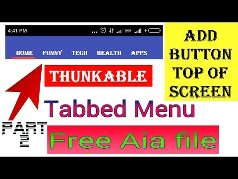 How To Add Tabs Buttons Top of Screen Slide Button In Thunkable