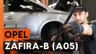 Kaip pakeisti Pasukimo trauklė OPEL ZAFIRA B (A05) - vaizdo vadovas