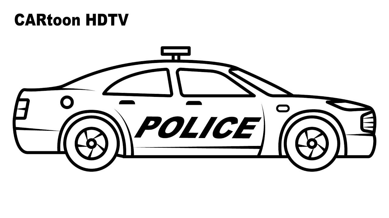 - Police Car Coloring Pages, Video Colors Vehicles, Coloring Video