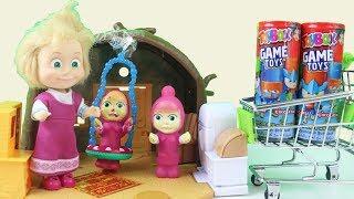 Maşa Bebek ToyBox Alıp Koca Ayının Evine Geliyor Küçük Kardeşleri Maşa Hepsini Açıyor