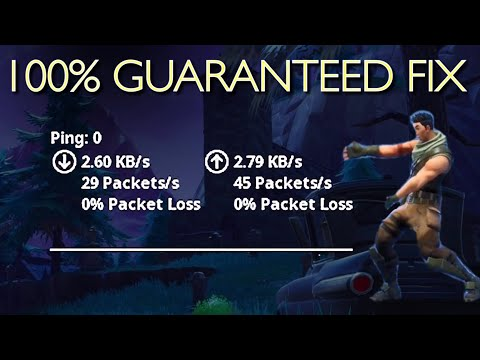 ONLY WAY TO GET 0 PING & PACKET LOSS IN FORTNITE!