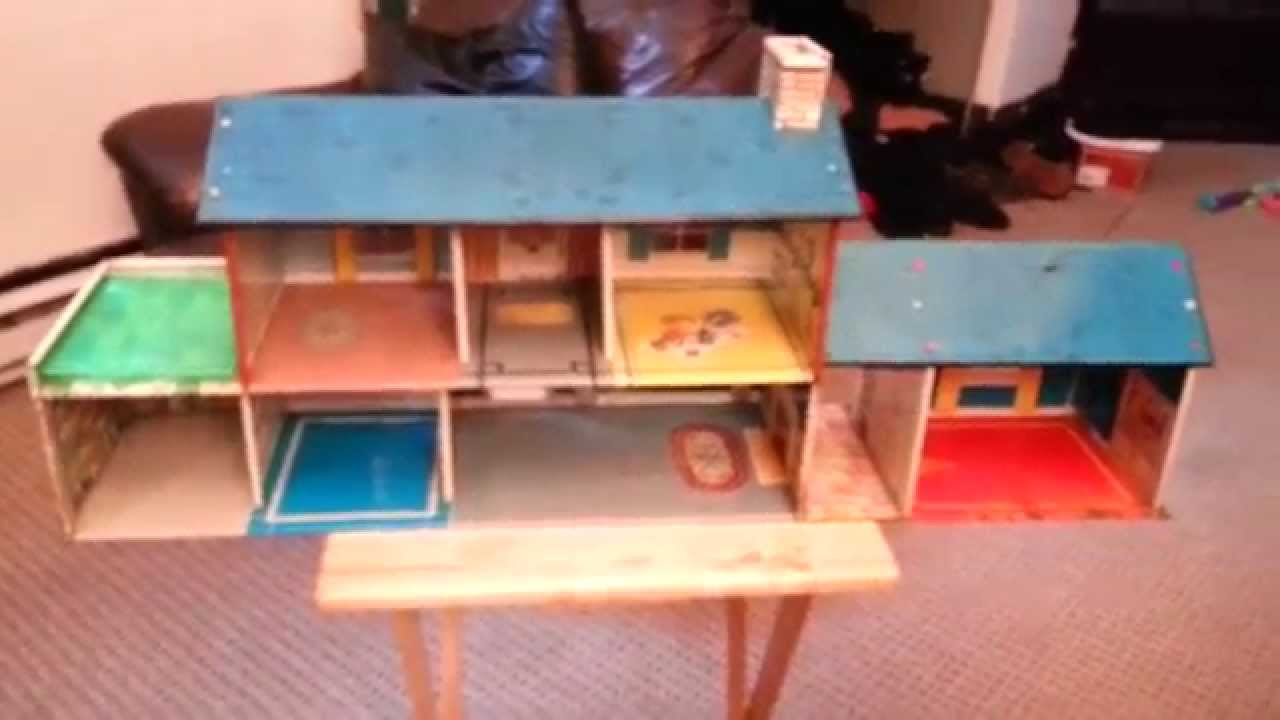 1962 Marx Metal Dollhouse With A Fallout Bomb Shelter Youtube